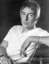 Black & White picture of a reclining Paul Weller